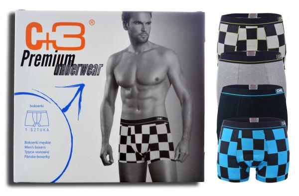 4er Pack Herren Boxershorts mit Box Shorts Unterwäsche Unterhose M-2XL