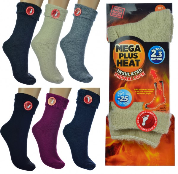 2 Paar Thermosocken Unisex Damen Herren Kinder Wintersocken Winterstrümpfe