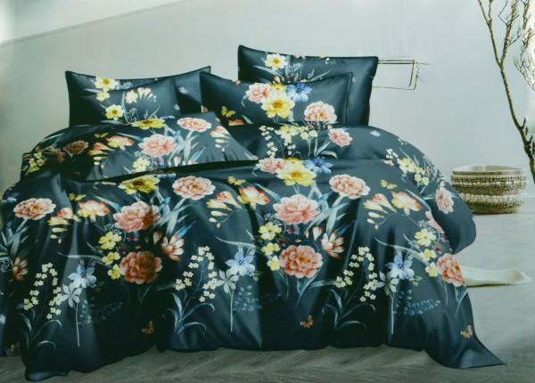 4-tlg. Bettwäsche-Set Bettgarnitur 200 x 220 cm Bettbezug