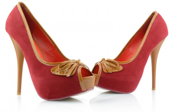 Sexy High Heels Stiletto Plateau Pumps Peep Toe Abendschuhe Party Rot Gr.35- 40