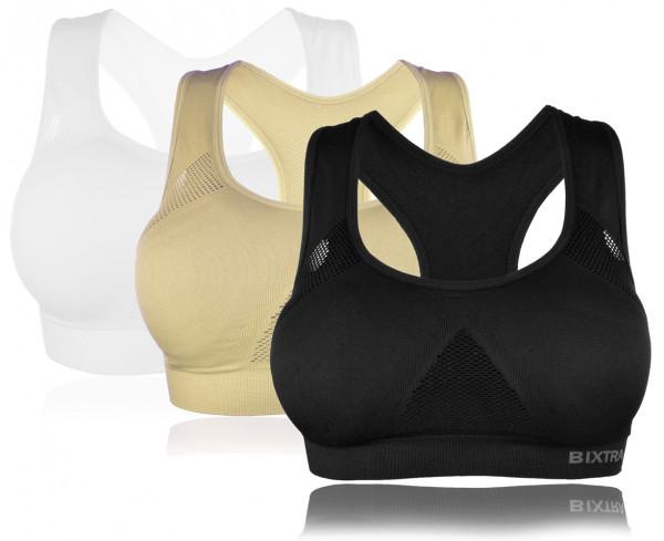 Bügellos Bustier Sport Fitness Yoga Soft BH mit Einlagen Trägertop 2XL-4XL