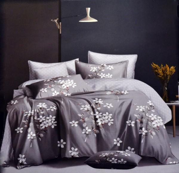4-tlg. Baumwolle Bettwäsche-Set Bettbezug Bettgarnitur 200 x 220 cm