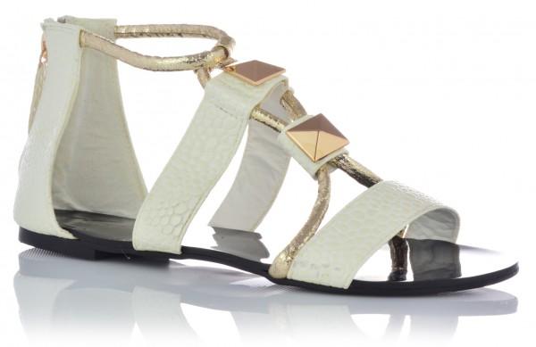 Sandalen Sandaletten Slipper Römersandalen Damenschuhe Sommerschuhe Gold