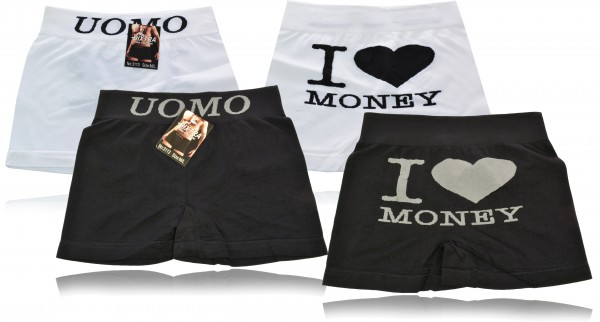 2x Herren Boxershorts Unterhose Unterwäsche nahtlose Shorts 2er Pack M-XXL