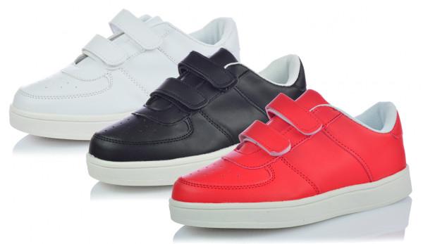 Unisex Sneaker Freizeitschuhe Sportschuhe Klettverschluss Gr. 31-36