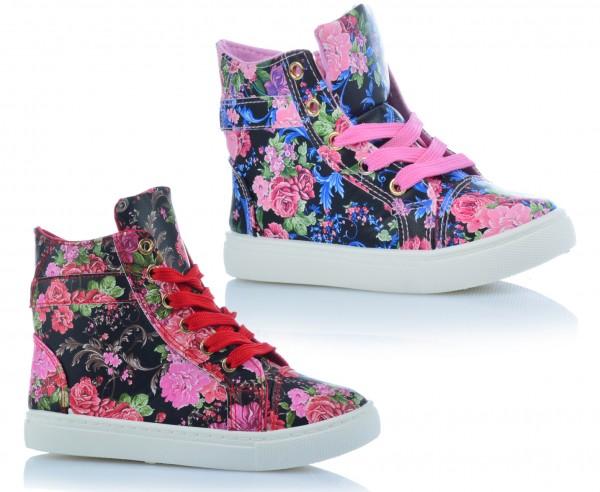 Mädchenschuhe Kinder Sneaker Freizeitschuhe Knöchelschuhe Blumen Sommer