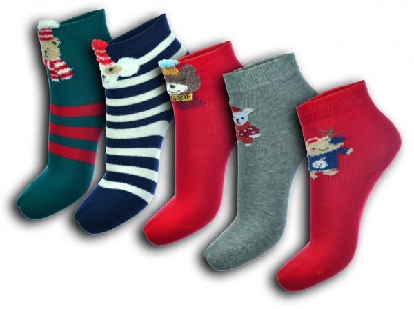 5 Paar Kinder Weihnachtssocken Geschenk 24-27 28-31 32-35